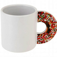 Sprinkle Donut Handle Mug Coffee Cup, Gift Boxed & No Calories!