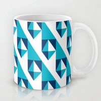 Geometric Pattern 2-Blue Mug by mollykd