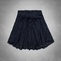 A&F Natural Waist Lace Skater Skirt