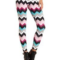 Cute Colored, Tribal & Floral Printed Leggings: Charlotte Russe