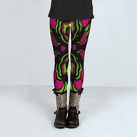 Psychedelic Retro Ornament by Daniel Ferreira-Leites (Leggings)