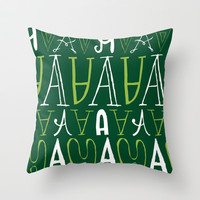 Alphabet pattern 3 Throw Pillow by mollykd