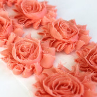 1 Yard Vintage Pink Shabby Flower Trim, Wholesle Flowers, Shabby Chiffon Flowers, Shabby Rose Trim, Headband Supplies, Hair Bow Supplies