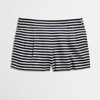 FACTORY PLEATED STRIPE SHORT