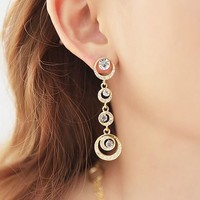 Circles Of Shines Full Rhinestone Earrings