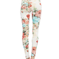 Coral Floral Legging | Wet Seal
