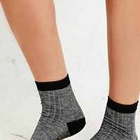 Marl Ribbed Ankle Socks in Grey - Urban Outfitters