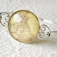 World Traveler Bangle The British Isles by kimiko611 on Etsy