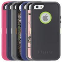 OtterBox Defender Series Case for iPhone 5 & 5S - Retail Packaging - Blue/Pink
