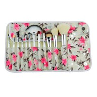 Colorshine 12 Pcs Delicate Professional Makeup Tool Cosmetic Brush Set Plus a Pretty Case White