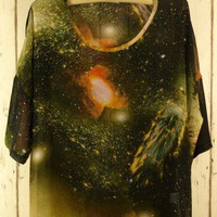 Galaxy Chiffon Oversize T-shirt - Chic+ - Retro, Indie and Unique Fashion