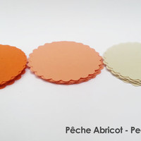 "30 - Scalloped Circles ""Peach Apricot"""