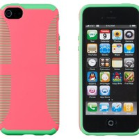 DandyCase THIN Dual Layer ARMOR Case for Apple iPhone 5S / 5 (AT&T, Verizon, Sprint, International) - Includes DandyCase Keychain Screen Cleaner [Retail Packaging by DandyCase] (Hot Pink & Green)