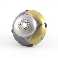 Mini Duo Knob Light Gold Moonstone 2 in.