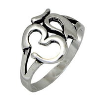 OM, Sterling Silver Ring, Fit the Finger from Teen to Adult