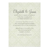 Custom Modern Damask Wedding Invitations