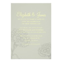 Custom Modern Elegant Wedding Invitations