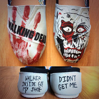 Hand Painted The Walking Dead Shoes