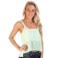 Double Zero Juniors Chiffon Cami with Daisy Straps at Von Maur