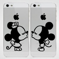 Mickey Kissing Iphone Ipad Macbook Decal Skin Sticker Laptop