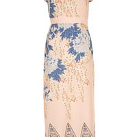 Petite Blush Floral Maxi Dress