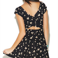 Floral X-Back Skater Dress | Wet Seal