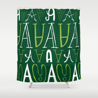 Alphabet pattern 3 Shower Curtain by mollykd