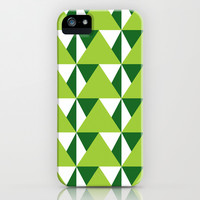 Geometric Pattern 3-Green iPhone & iPod Case by mollykd