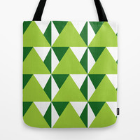 Geometric Pattern 3-Green Tote Bag by mollykd