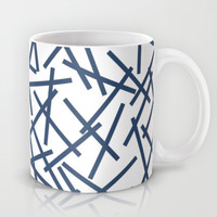 Kerplunk Repeat Navy on White Mug by Project M