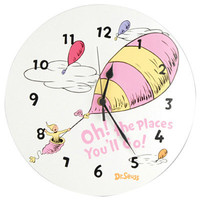 Trend Lab Dr. Seuss Pink Oh The Places Youll Go Wall Clock - Pink | Meijer.com