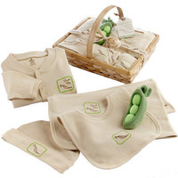Baby Aspen Fresh Produce Sweet Pea 5-Piece Organic Cotton Layette Set | Meijer.com