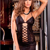 Rene Rofe Lace Chemise Set LingerieSet Sleepwear 512039 at BareNecessities.com