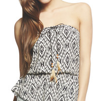 Feather String Aztec Tube Top | Wet Seal