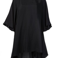 SORCHA O'RAGHALLAIGH - Draped Trapeze Dress - HARLSE BLACK - H. Lorenzo