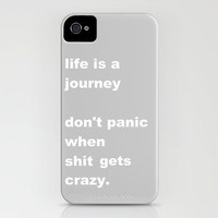 shit gets crazy iPhone Case