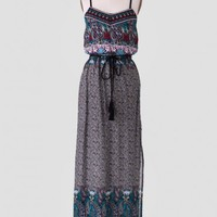 Dhaka City Paisley Maxi Dress