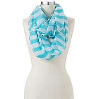 Candie's® Striped Sheer Infinity Scarf