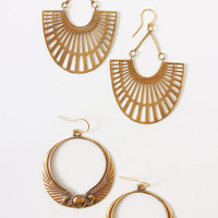Silvana K, Egyptian Brass Earrings
