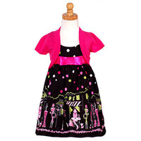 Bonnie Jean Little Girls Black Paris Dress Shrug Set 6 on eBay!