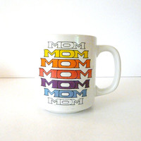 retro mug for mom mothers day // vintage kitchen by thriftonica