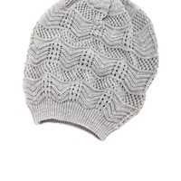 POINTELLE KNIT SLOUCHY BEANIE