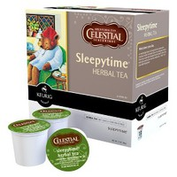 Keurig Celestial Seasonings Sleepytime Caffeine-Free Herbal Chamomile Tea K-Cups, 18 Ct