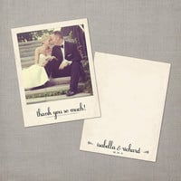 Isabella  Polaroid Vintage Wedding Thank You by NostalgicImprints
