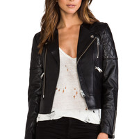 ANINE BING Leather Biker Jacket in Black from REVOLVEclothing.com