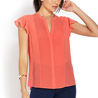 Refined Pleats Woven Top