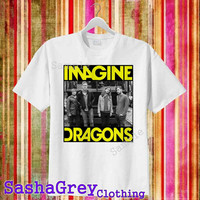 Imagine Dragons White _ T-Shirt Men's Size S - 3XL Design By : sashagreystore