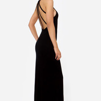 Strap and Gown Black Maxi Dress