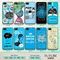 The Fault in Our Stars iPhone 5c case John Green phone case iPhone 5s case iphone 5 case iphone 5c case Hard or Soft Case-JG01