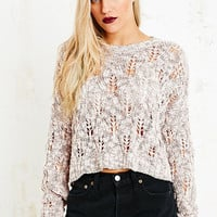 Pins & Needles Diamond Slub Crop Jumper - Urban Outfitters